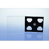 CD Jewelcase für 3 Discs - unzerbrechlic h - montiert mit schwarzem Tray
