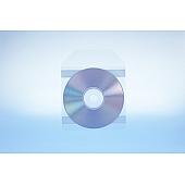 Tasche für 1 Disc mit Klappe - selbstkl. (2 Streifen) - trennahtgeschw. -120my OE