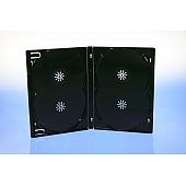 Amaray DVD Ecolite Box 4-fach  - (Overlap) 15mm - schwarz