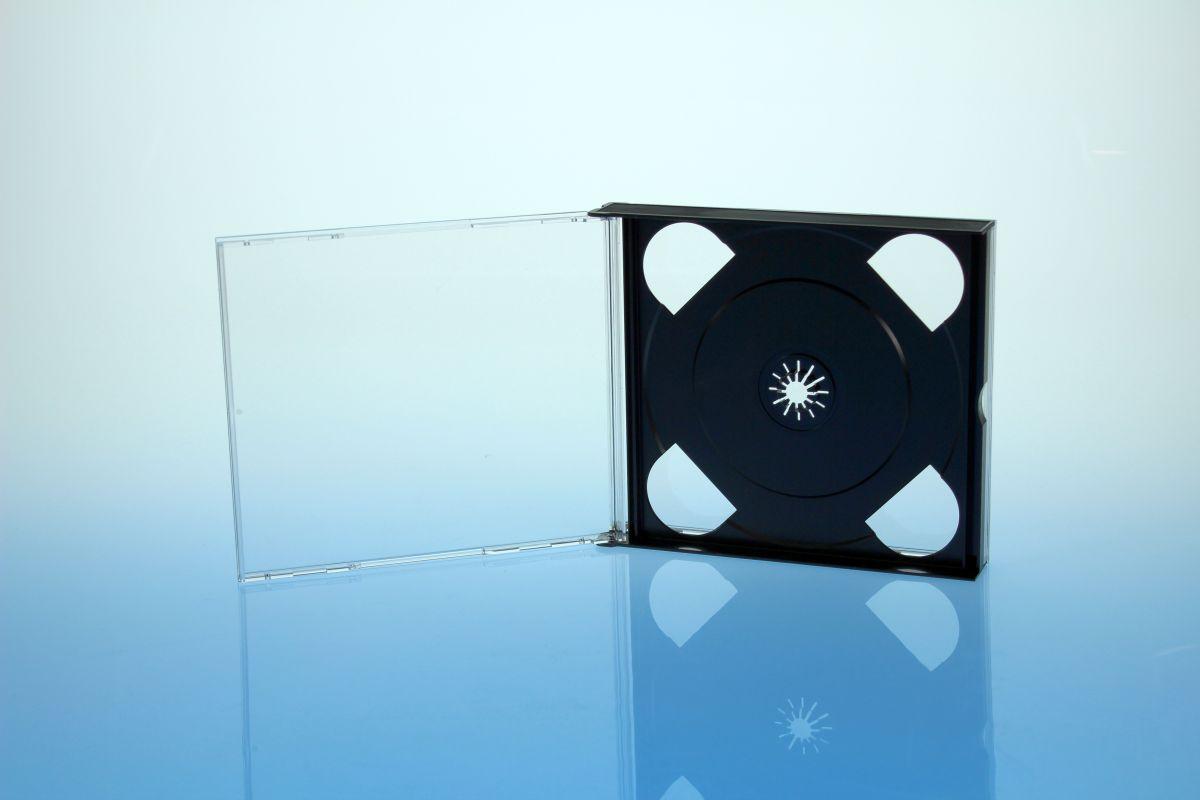 CD Multibox 3er - schwarz - kartoniert