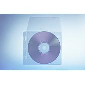 Klarsichttasche für 1 Disc - mit seitlichem Abheftrand und Klappe