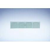 Eurolochaufhänger transparent aus  Kunststoff - selbstklebend - 43x36 mm