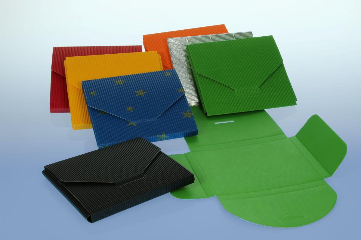 CD Geschenkverpackung - gelb - 145x130x10 mm