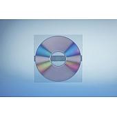 Klarsichttasche für 1 Disc - ohne  Klappe - trennahtgeschweißt - mit 1 Klebestreifen